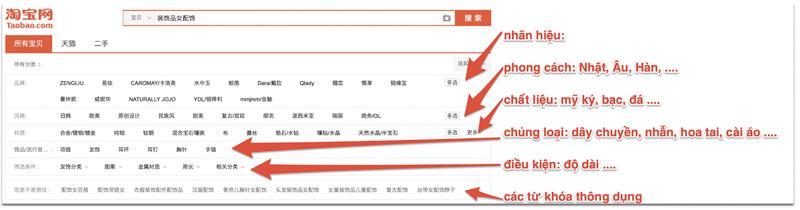 Lọc các shop order trang sức Quảng Châu uy tín